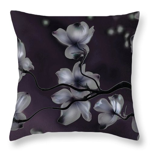 Dogwood Throw Pillow featuring the painting Wave Japanese Art by Gray Artus