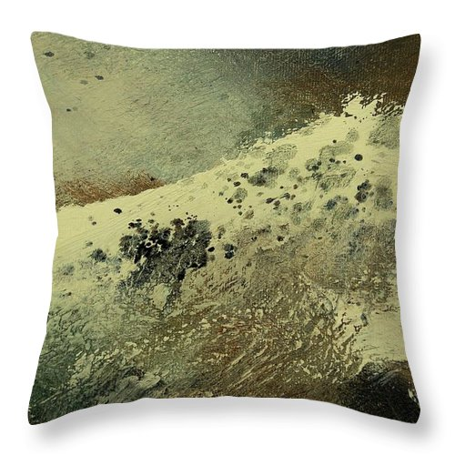 Sea Throw Pillow featuring the painting Wave by Pol Ledent