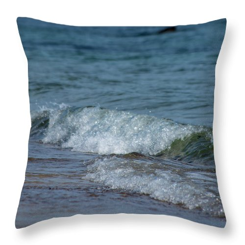 Waves Throw Pillow featuring the photograph Waves by ChelleAnne Paradis