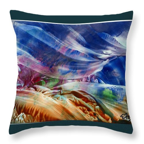 Waves Throw Pillow featuring the painting Waves by Eileen Fong