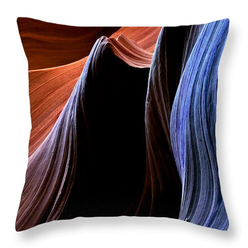 Sandstone Throw Pillow featuring the photograph Waves by Mike Dawson