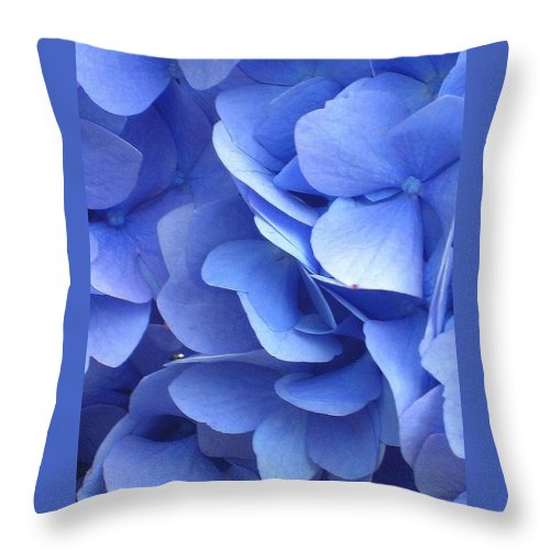 Floral Throw Pillow featuring the photograph Waves Of Blue by Marla McFall