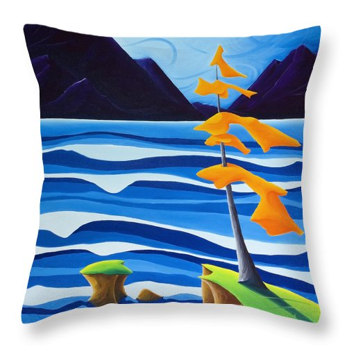 Landscape Throw Pillow featuring the painting Waves Of Emotion by Richard Hoedl