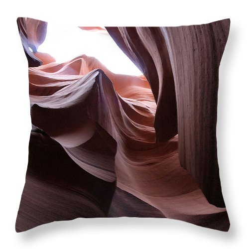 Landscape Throw Pillow featuring the photograph Waves Of Stone by Mary Haber