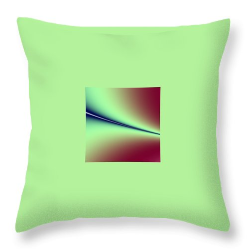 Digital Art Throw Pillow featuring the digital art Way Out I by Dragica Micki Fortuna