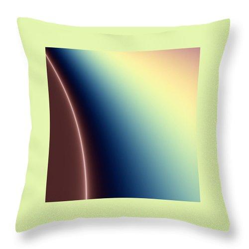Digital Art Throw Pillow featuring the digital art Way Out II by Dragica Micki Fortuna