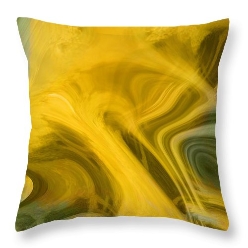 Abstract Art Throw Pillow featuring the digital art Way Out Of Here by Linda Sannuti