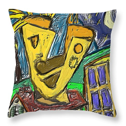 Figurative Throw Pillow featuring the painting Way Out by Xavier Ferrer