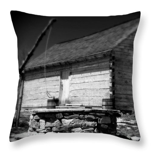 Army Throw Pillow featuring the photograph Way Station French And Indian War by Jean Macaluso