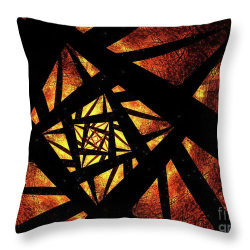 Throw Pillow featuring the painting Way To Hell by Steve K