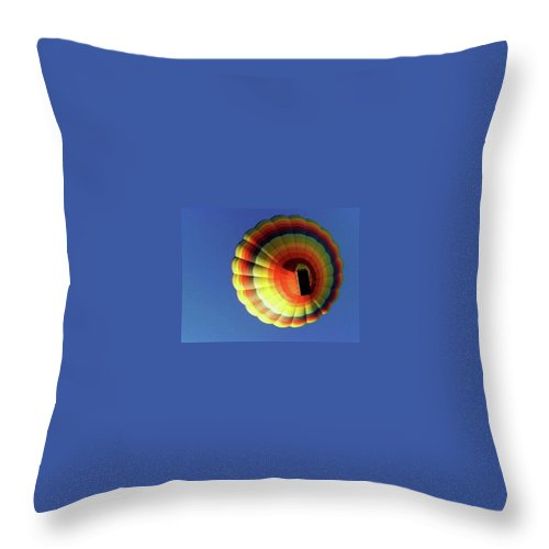 Balloon Throw Pillow featuring the photograph Way Up In The Air by Marla McFall