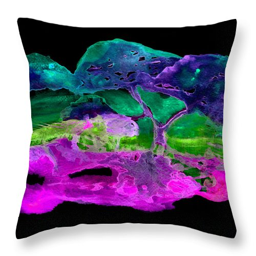 Watercolour Throw Pillow featuring the painting Wcs 4 C by Lyn Fernandez
