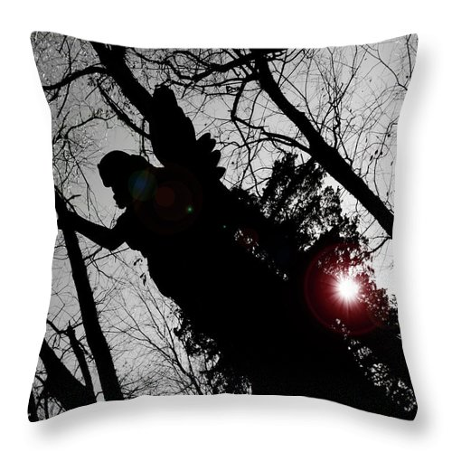 Angel Throw Pillow featuring the photograph We Are Everywhere by Betsy Knapp