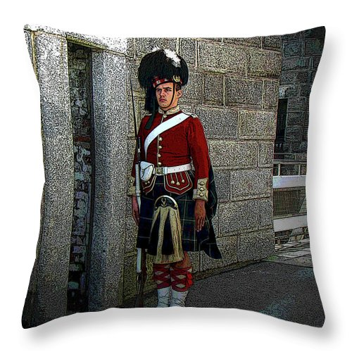 Al Bourassa Throw Pillow featuring the photograph We Stand On Guard For Thee by Al Bourassa