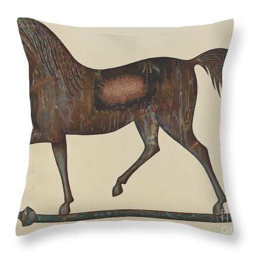 Throw Pillow featuring the drawing Weather Vane by Frank Gray