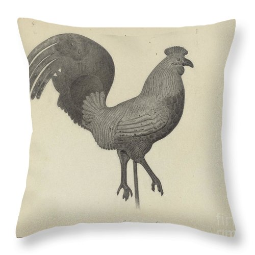 Throw Pillow featuring the drawing Weather Vane by Helen Blumenstiel