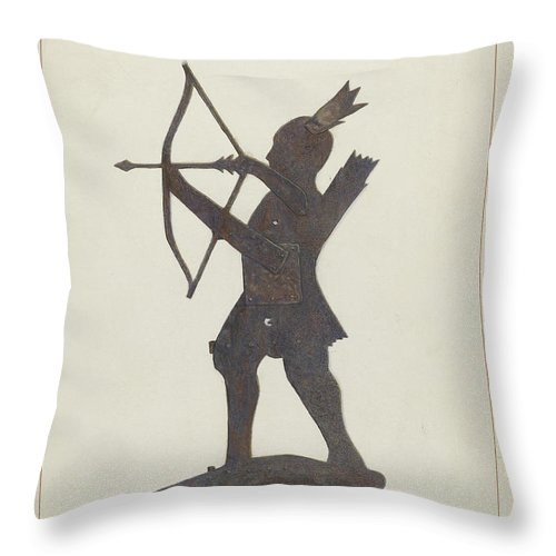Throw Pillow featuring the drawing Weather Vane by Samuel Fineman
