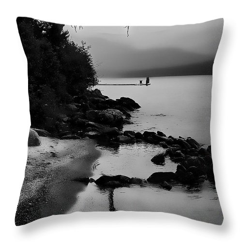 Boathouse Throw Pillow featuring the photograph Weathered by David Patterson