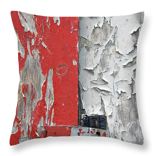 Red Throw Pillow featuring the photograph Weathered by Jacqueline Milner