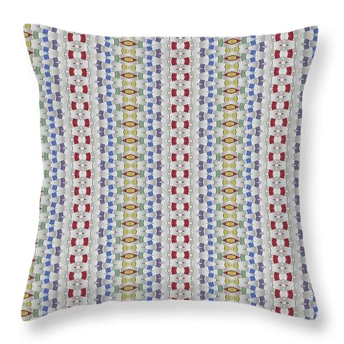 Throw Pillow featuring the digital art Weave Away by Jeffrey Todd Moore