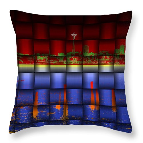 Seattle Throw Pillow featuring the photograph Weave Of The Needle by Tim Allen