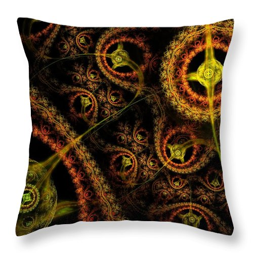 Fractal Throw Pillow featuring the digital art Weaveworld by Lyle Hatch