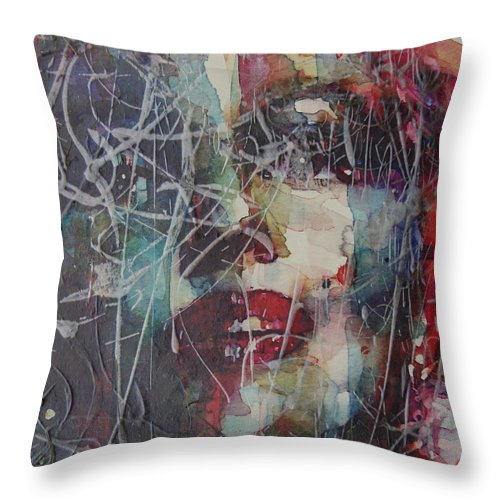 Marilyn Monroe Throw Pillow featuring the painting Web Of Deceit by Paul Lovering