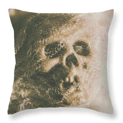 Bone Throw Pillow featuring the photograph Webs And Dead Heads by Jorgo Photography - Wall Art Gallery