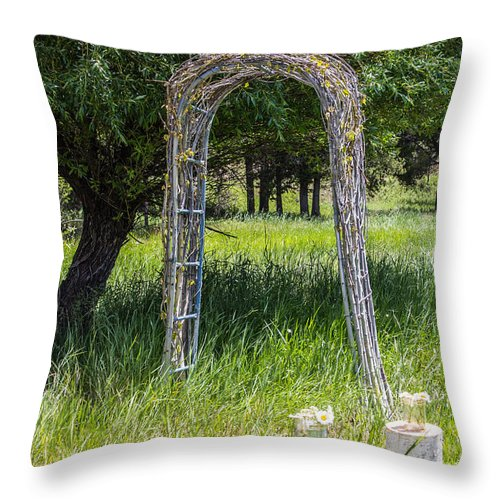 Weddings Throw Pillow featuring the photograph Wedding Bliss by Tammy Bryant