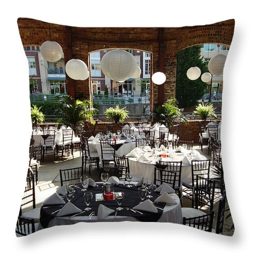 Markley Carriage Throw Pillow featuring the photograph Wedding by Flavia Westerwelle