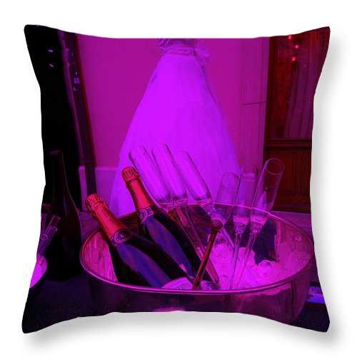 Urban Throw Pillow featuring the photograph Wedding Party by Funkpix Photo Hunter