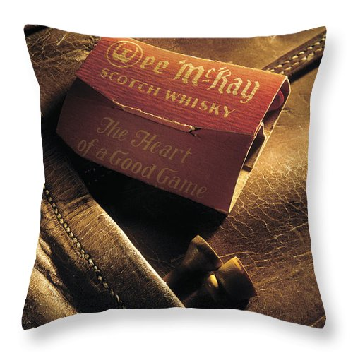 Golf Bag Throw Pillow featuring the photograph Wee Mckay by Perry Danforth