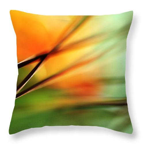 Weed Throw Pillow featuring the photograph Weed by Catherine Lau