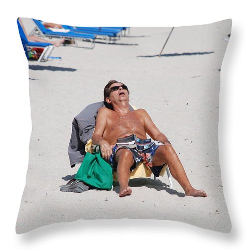 Beach Throw Pillow featuring the photograph Weekend At Bernies by Rob Hans