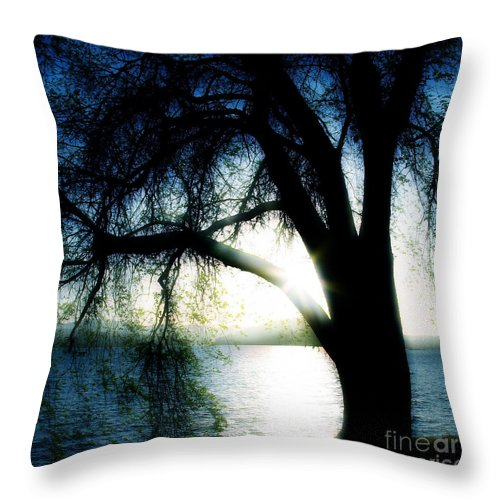Weesping Throw Pillow featuring the photograph Weeping by Idaho Scenic Images Linda Lantzy