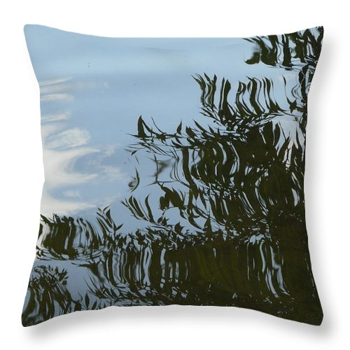 Tree Throw Pillow featuring the photograph Weeping Willow Reflection by Valerie Ornstein