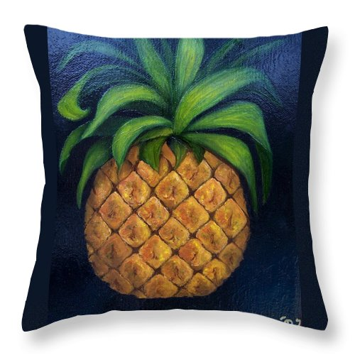 Still Life Throw Pillow featuring the painting Welcome    by Susan Dehlinger