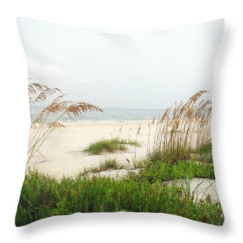 Beaches Throw Pillow featuring the photograph Welcome by Amanda Barcon