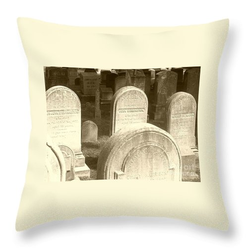 Cemetery Throw Pillow featuring the photograph Welcome by Debbi Granruth