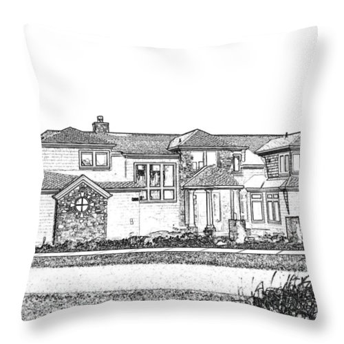 Welcome Home Throw Pillow featuring the digital art Welcome Home 3 by Will Borden