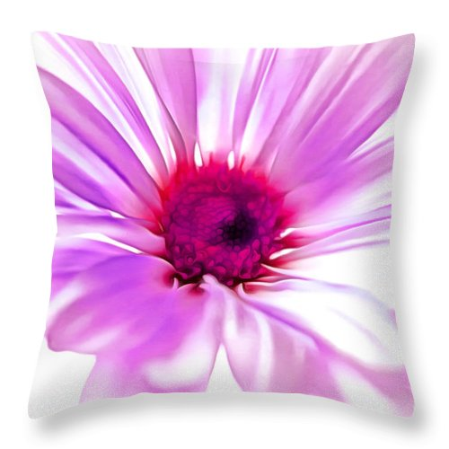 Daisy Throw Pillow featuring the photograph Welcome Spring by Krissy Katsimbras