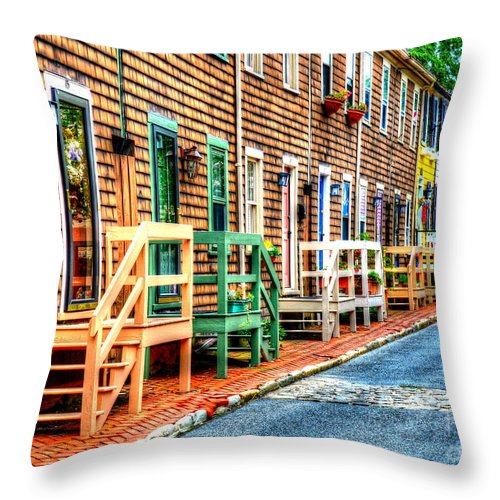 Annapolis Throw Pillow featuring the photograph Welcome To Annapolis by Debbi Granruth