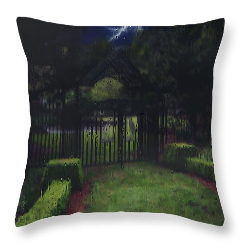 Landscape Throw Pillow featuring the painting Welcome To Dudleytown by RC DeWinter