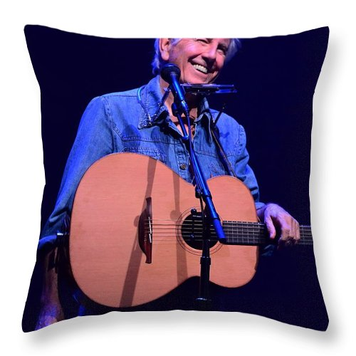 Graham Nash Throw Pillow featuring the photograph Welcome To Our House by Jesse Ciazza