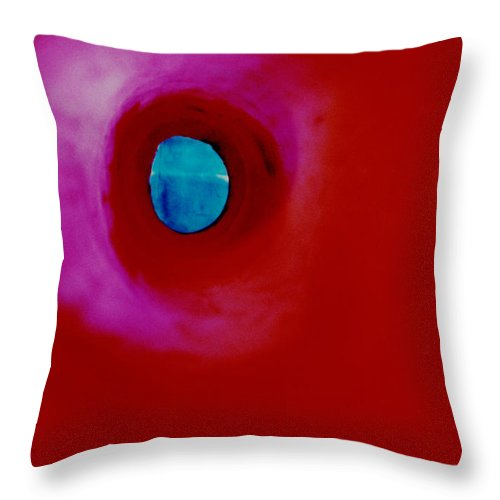 Abstract Throw Pillow featuring the photograph Well by David Rivas