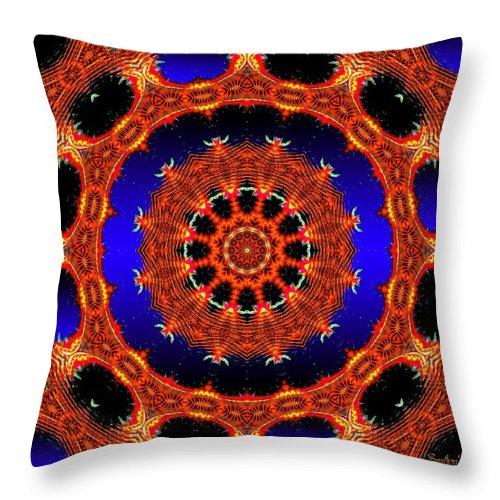 Fractal Throw Pillow featuring the digital art Welome Home by Robert Orinski