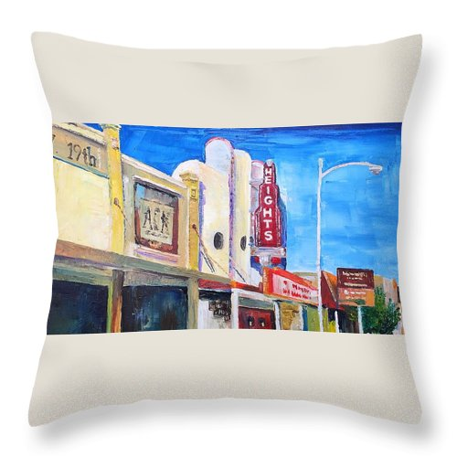 Heights Throw Pillow featuring the painting West 19th St by Lauren Luna