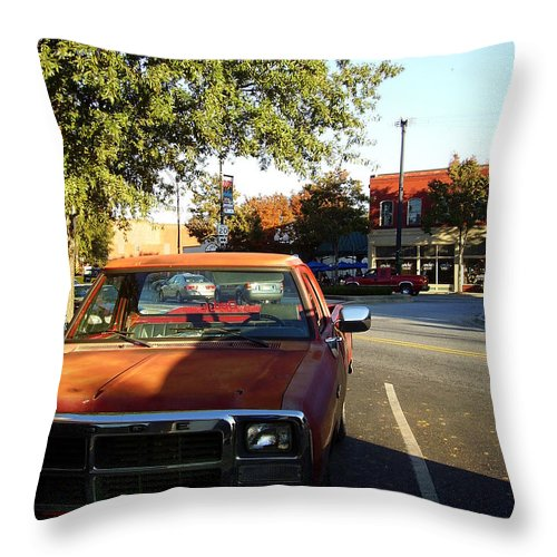 West End Throw Pillow featuring the photograph West End by Flavia Westerwelle