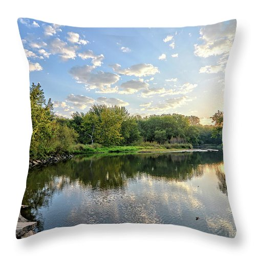 Summer Throw Pillow featuring the photograph West Fork Bend by Bonfire Photography
