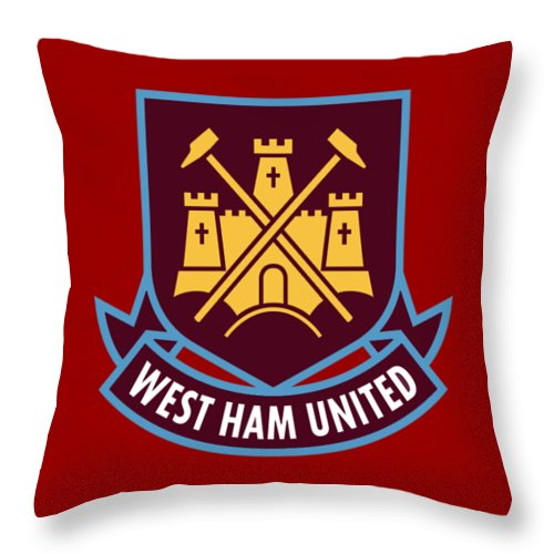 England Throw Pillow featuring the photograph West Ham United by Juju Juahana